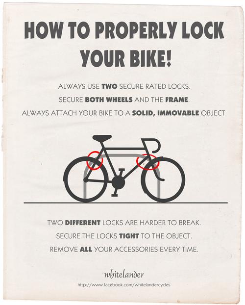 Come legare la bicicletta per non farsela rubare